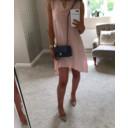 Elise Button Back Linen Dress - Baby Pink