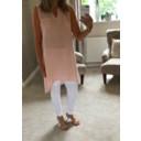 Elise Button Back Linen Dress - Baby Pink - Alternative 1