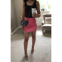 Matt PU Mini Skirt - Bubblegum Pink