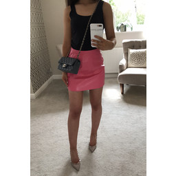 Glamorous Matt PU Mini Skirt - Bubblegum Pink