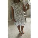 Ivy Printed Linen Dress - Grey