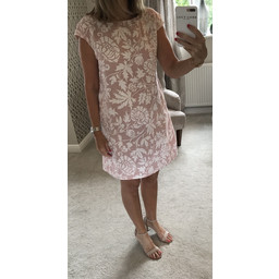 Lucy Cobb Ivy Printed Linen Dress - Blush Pink