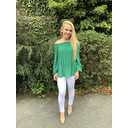 Maddie Pleated Blouse - Green - Alternative 1