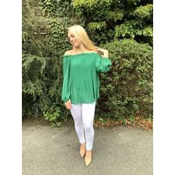 Lucy Cobb Maddie Pleated Blouse in Green