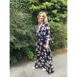 Lucy Cobb Isabella Maxi Dress in Navy Star
