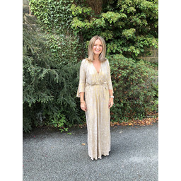 Lucy Cobb Isabella Maxi Dress in Gold