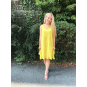 Tess Frill Hem T Shirt Dress - Mustard - Alternative 2