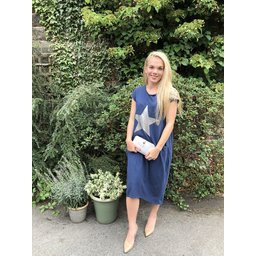 Lucy Cobb Taylor T Shirt Dress in Navy Star