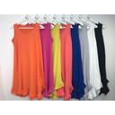 Tess Frill Hem T Shirt Dress - Light Grey - Alternative 1