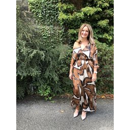 Lucy Cobb Isabella Maxi Dress in Bronze