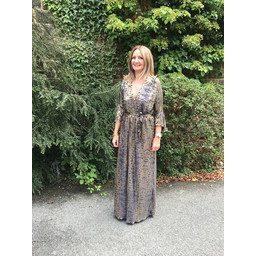 Lucy Cobb Isabella Maxi Dress in Black Gold