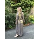 Eva Frill Hem Dress - Black Gold - Alternative 1