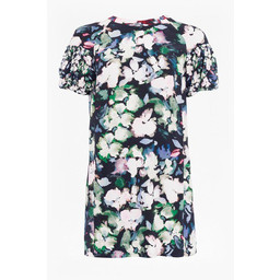 French Connection Dreda Drape Puff Sleeve Tunic - Floral