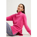 Edith Knit Side Split Jumper - Fuchsia - Alternative 2
