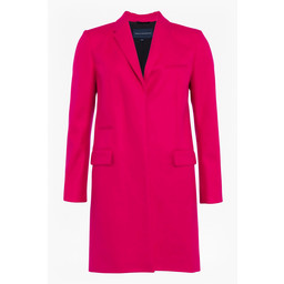 French Connection Platform Felt Smart Coat - Fuchsia