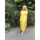 Tara Cap Sleeve Dress - Yellow