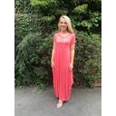 Tara Cap Sleeve Dress - Coral