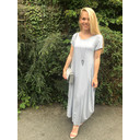 Tara Cap Sleeve Dress - Light Grey