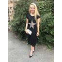 Taylor T Shirt Dress - Black Star