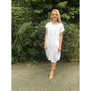 Taylor Linen Panel Dress - White