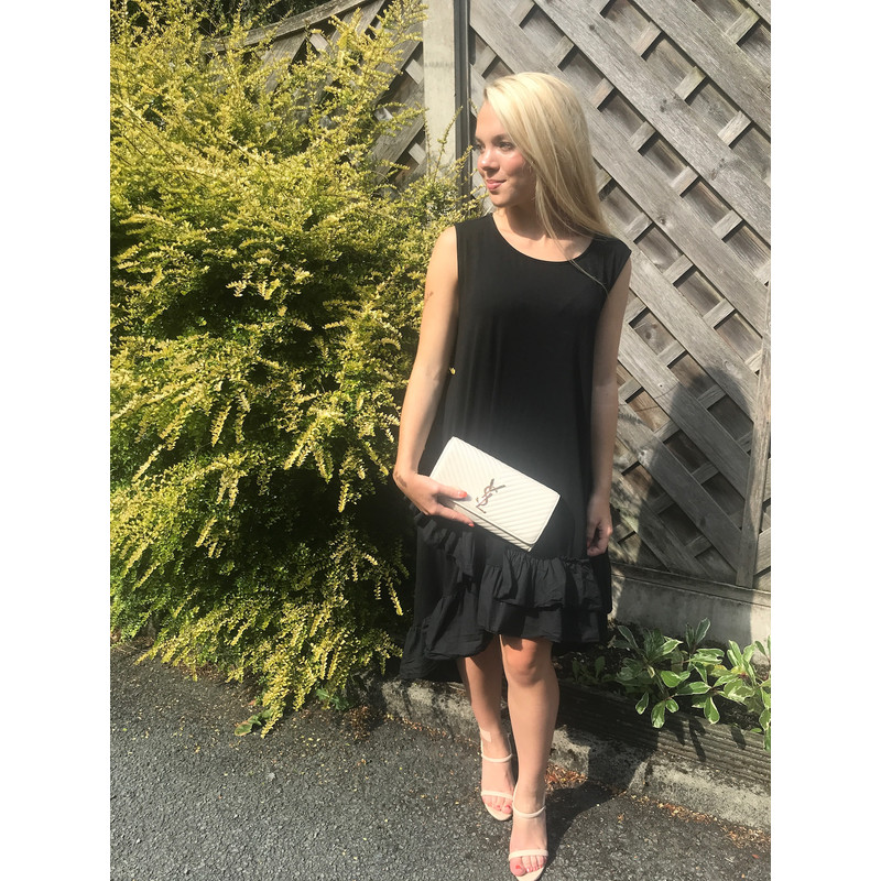 82f0e2c65 Lucy Cobb Elle Frill Dress in Black