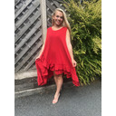 Elle Frill Dress - Red