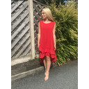 Elle Frill Dress - Red - Alternative 1