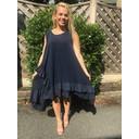 Elle Frill Dress - Navy