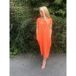 Lucy Cobb Taylor T Shirt Dress in Orange