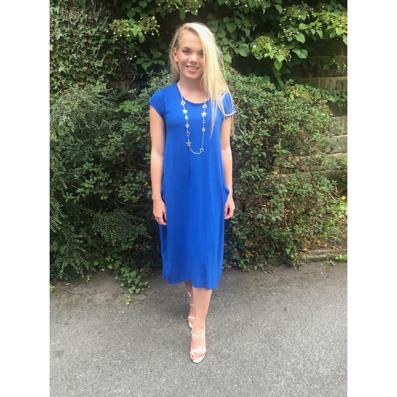 Royal Blue Tshirt Dress