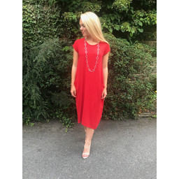 Lucy Cobb Taylor T Shirt Dress in Red