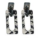 Chaiarra Modern Resin Earrings - Black & White