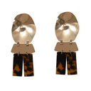 Camilia Abstract Perspex Earrings - Gold