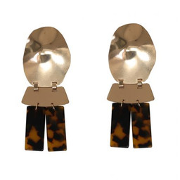 Lucy Cobb Camilia Abstract Perspex Earrings - Gold