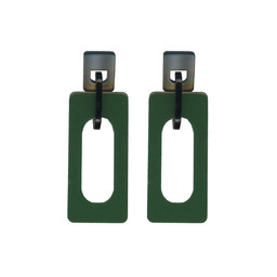 LC Jewellery Chaiarra Modern Resin Earrings - Green