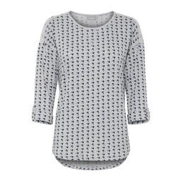 Fransa Piflower T-shirt  in Grey Mix