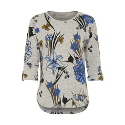 Fransa Piflower T-shirt  in Grey Floral