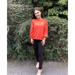 Lucy Cobb Jasmine Stud Jumper  - Orange