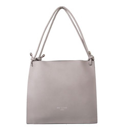 Red Cuckoo Knot Detailed Shopper - Elephant Grey
