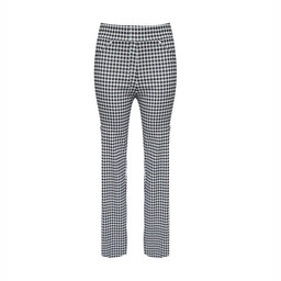 Deck Printed Stretch Trousers - Black Mix