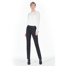 Robell Trousers Marie Minimalistic Jacquard - Black Mix