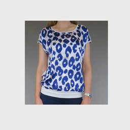 Deck Animal Print Top - Royal