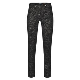 Robell Trousers Rose Modern Animal Velour Trousers - Black Copper