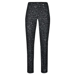 Robell Trousers Rose Animal Print Trousers - Silver Black