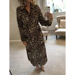 Lucy Cobb Indiya Leopard Shirt Dress - Animal Print