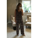 Mari Pleated Jumpsuit - Animal Print