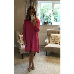 Lucy Cobb Anna Two Pocket Tunic - Fuchsia