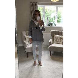 Lucy Cobb Sophie Star Jumper - Grey
