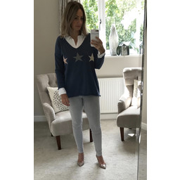 Lucy Cobb Sophie Star Jumper in Blue