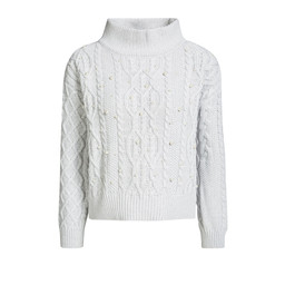 Oui Cable-Knit Jumper - Grey